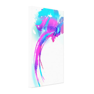 Abstract Paint Splatter Lilac Breasted Roller Canvas Print