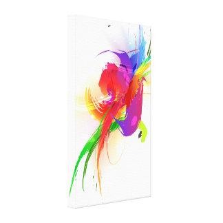 Abstract Paint Splatter Rainbow Lorikeet Canvas Print