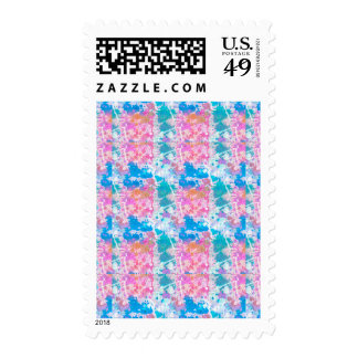 Abstract Paint Splatters 10 Postage Stamp