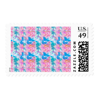 Abstract Paint Splatters 10 Postage
