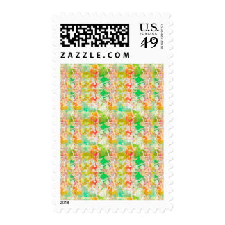 Abstract Paint Splatters 1 Postage Stamp