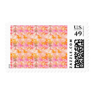Abstract Paint Splatters 2 Postage Stamp