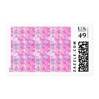 Abstract Paint Splatters 3 Postage Stamp