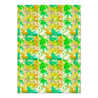 Abstract Paint Splatters 5 Card