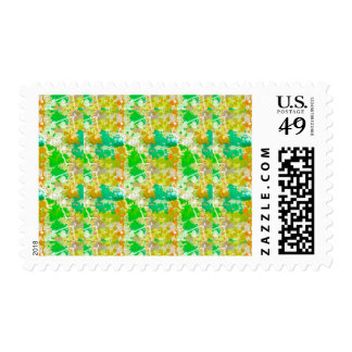 Abstract Paint Splatters 5 Stamp