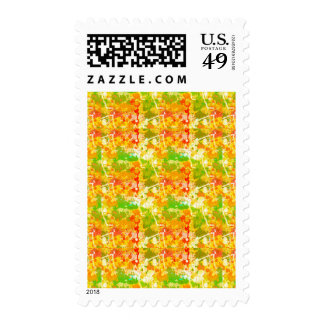 Abstract Paint Splatters 6 Postage