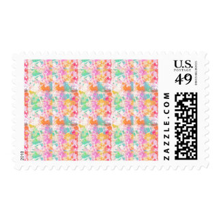 Abstract Paint Splatters 7 Stamps