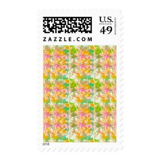 Abstract Paint Splatters 8 Postage Stamps