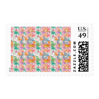 Abstract Paint Splatters 9 Stamps