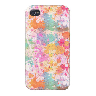 Abstract Paint Splatters Pastels Assorted Colors iPhone 4 Cover