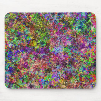 Abstract Paint Spots Mouse Pad