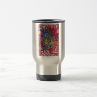 Abstract - Paint - The meaning of life Travel Mug