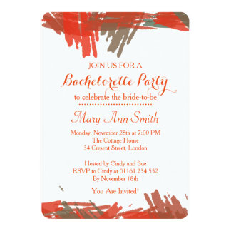 Abstract Paint with Water Color Bachelor Party Card