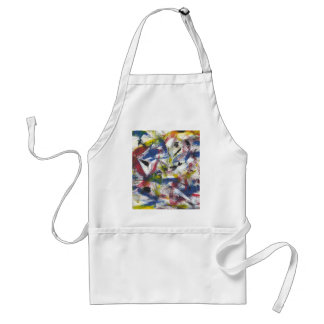 Abstract Painted Adult Apron