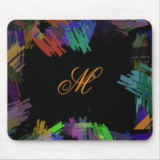 Abstract Painted Art Vintage Mouse Pad