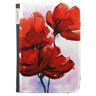 Abstract painted floral background 2 kindle cover