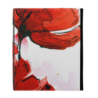 Abstract painted floral background 2 iPad folio case