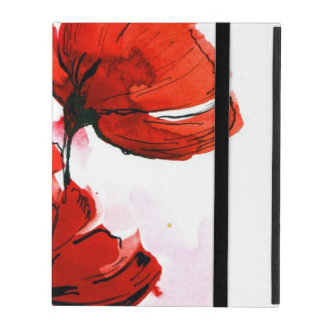 Abstract painted floral background 2 iPad case