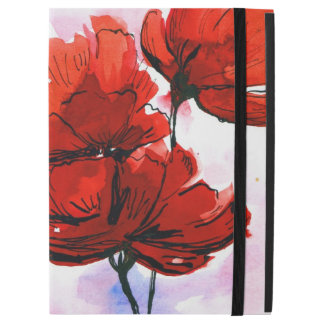 Abstract painted floral background 2 iPad pro case