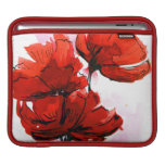Abstract painted floral background 2 iPad sleeves