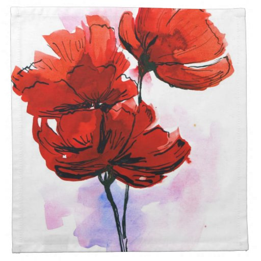 Abstract painted floral background 2 napkin