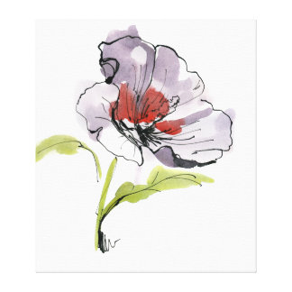 Abstract painted floral background 3 canvas print