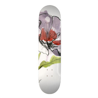 Abstract painted floral background 3 skateboard deck
