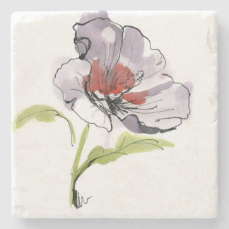 Abstract painted floral background 3 stone coaster