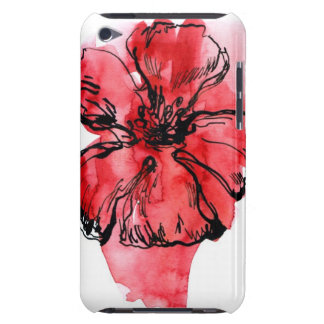 Abstract painted floral background 4 iPod Case-Mate case