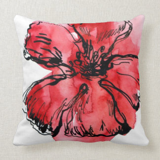 Abstract painted floral background 4 pillow
