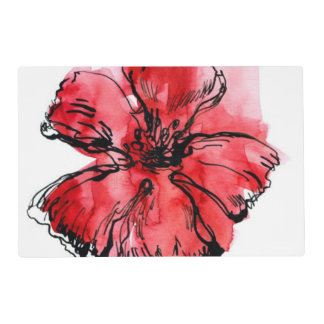 Abstract painted floral background 4 placemat