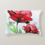 Abstract painted floral background decorative pillow