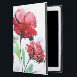 """Abstract painted floral background iPad pro 12.9&quot; case<br><div class=""""desc"""">Abstract painted floral background &#169; and &#174; Bigstock&#174; - All Rights Reserved.   Create your own watercolor merchandise on Zazzle. Try adding your own text to create a one-of-a-kind product! It&#39;s easy to personalize your own item,  has no minimum orders &amp; is custom produced when you order!</div>"""