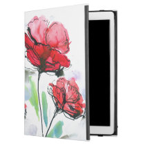 """Abstract painted floral background iPad pro 12.9"""" case"""