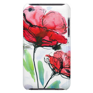 Abstract painted floral background iPod touch case