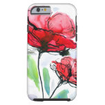 Abstract painted floral background tough iPhone 6 case