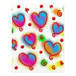 abstract painted heart