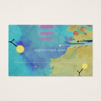 Abstract Painted Mixed Media Business Card