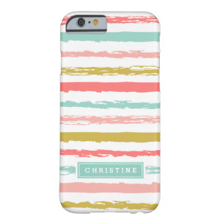 Abstract Painted Stripes Monogram Barely There iPhone 6 Case