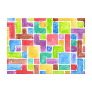 Abstract painted watercolor background. 2 canvas print