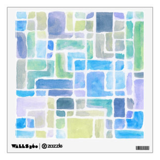 Abstract painted watercolor background. wall decals