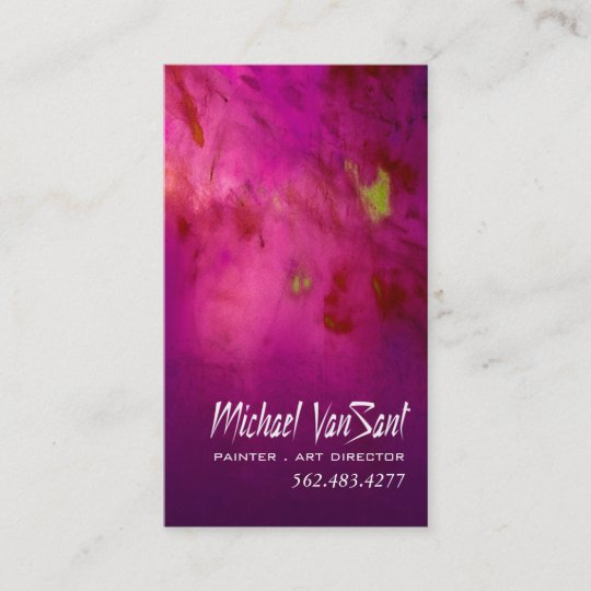 Abstract Painter Graphic Artist Art Director Business Card