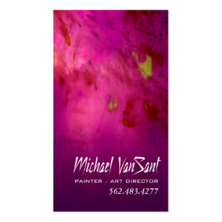 """""""Abstract"""" Painter, Graphic Artist, Art Director Double-Sided Standard Business Cards (Pack Of 100)"""