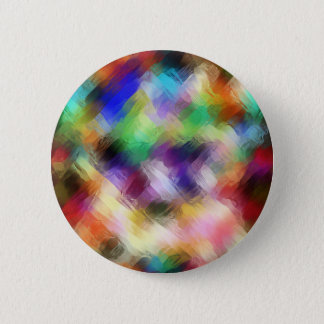 Abstract Painterly Spectrum Pinback Button