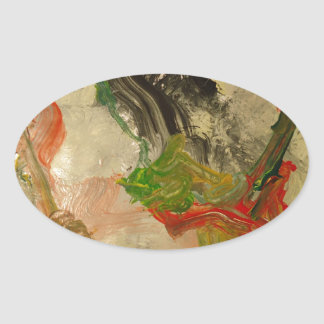 Abstract Paintig 3 Oval Sticker