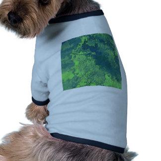 Abstract Painting 04 green Dog T-shirt