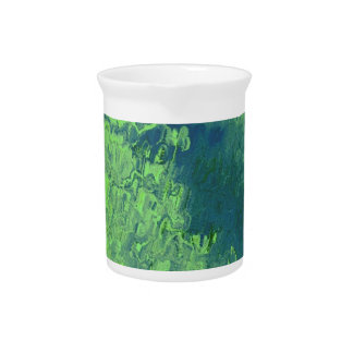 Abstract Painting 04 green Beverage Pitchers