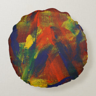 Abstract Painting 31 Jubilee Round Pillow