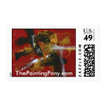 Abstract Painting 32 Three Crosses Postage