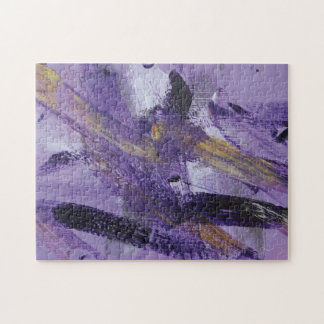 Abstract Painting 41 Purple Madness Jigsaw Puzzle